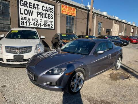 2004 Mazda RX-8 for sale at BARCLAY MOTOR COMPANY in Arlington TX