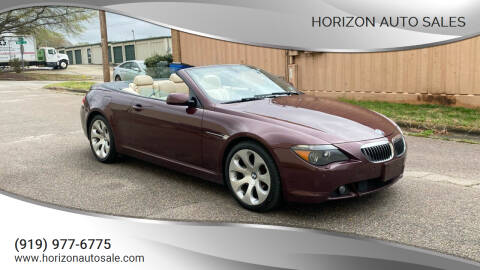 2006 BMW 6 Series for sale at Horizon Auto Sales in Raleigh NC