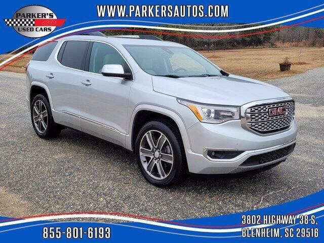 2017 GMC Acadia for sale at Parker's Used Cars in Blenheim SC