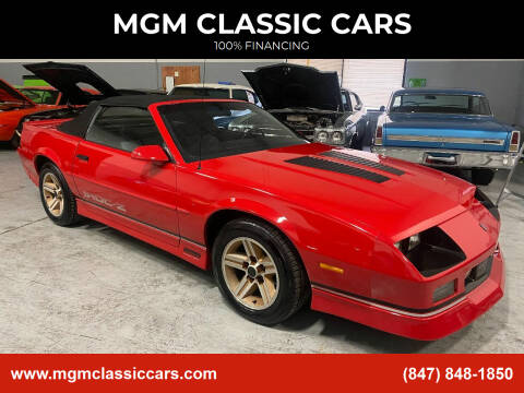 1988 Chevrolet Camaro for sale at MGM CLASSIC CARS in Addison, IL