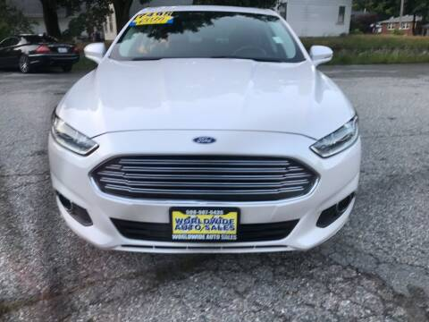 2016 Ford Fusion for sale at Worldwide Auto Sales in Fall River MA