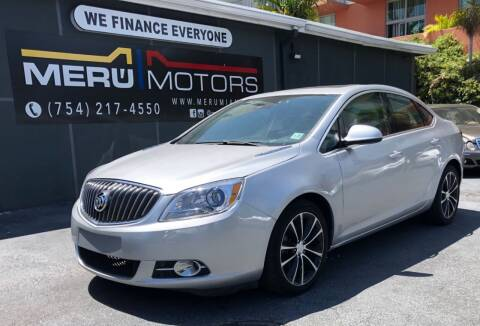 2017 Buick Verano for sale at Meru Motors in Hollywood FL