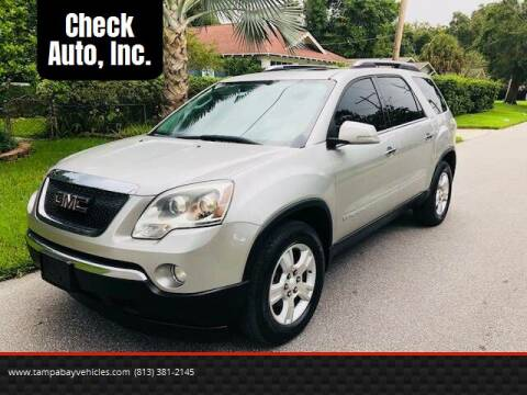 2008 GMC Acadia for sale at CHECK  AUTO INC. in Tampa FL