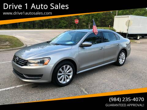 2012 Volkswagen Passat for sale at Drive 1 Auto Sales in Wake Forest NC