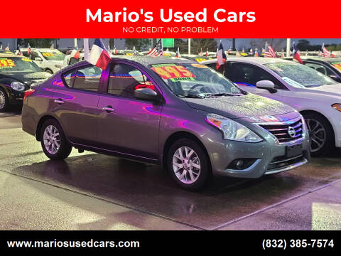 2017 Nissan Versa for sale at Mario's Used Cars in Houston TX