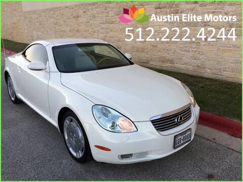 2002 Lexus SC 430 for sale at Austin Elite Motors in Austin TX