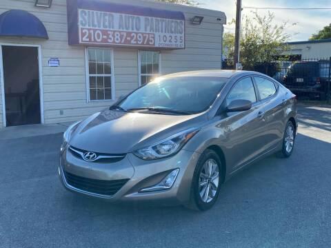 2016 Hyundai Elantra for sale at Silver Auto Partners in San Antonio TX