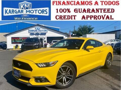 2015 Ford Mustang for sale at Kargar Motors of Manassas in Manassas VA