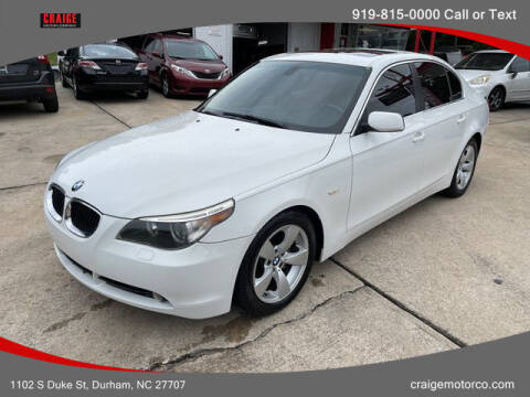2006 BMW 5 Series for sale at CRAIGE MOTOR CO in Durham NC