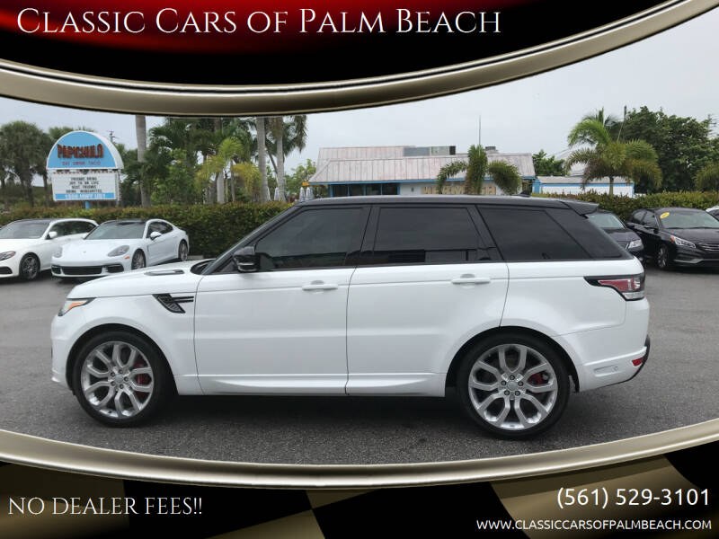 2016 Land Rover Range Rover Sport for sale at Classic Cars of Palm Beach in Jupiter FL