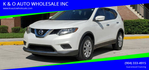 2014 Nissan Rogue for sale at K & O AUTO WHOLESALE INC in Jacksonville FL