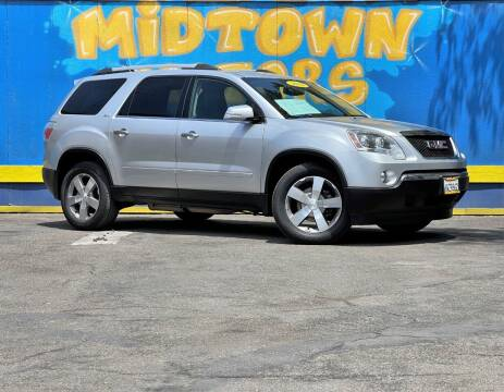 2012 GMC Acadia for sale at Midtown Motors in San Jose CA