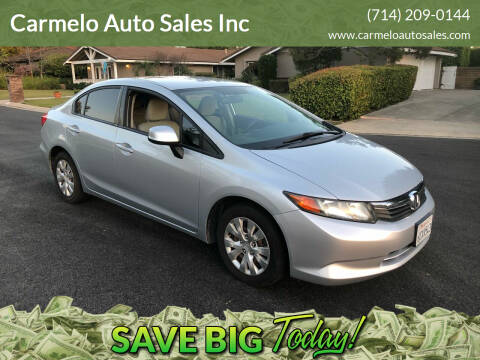 2012 Honda Civic for sale at Carmelo Auto Sales Inc in Orange CA
