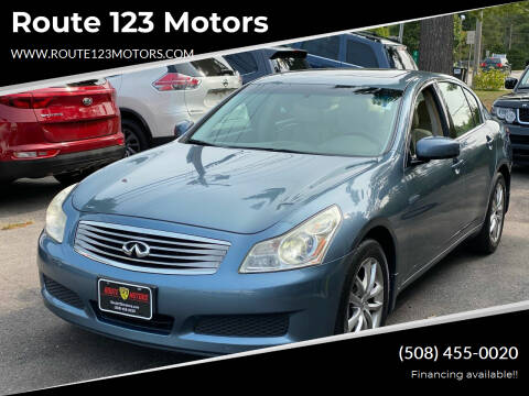 2008 Infiniti G35 for sale at Route 123 Motors in Norton MA