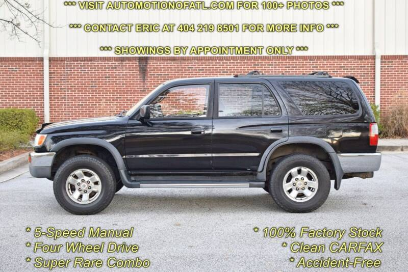 1998 Toyota 4Runner for sale at Automotion Of Atlanta in Conyers GA