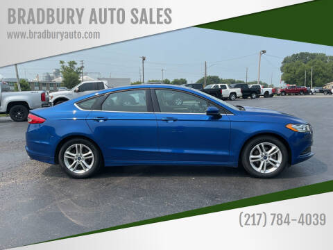 2018 Ford Fusion for sale at BRADBURY AUTO SALES in Gibson City IL