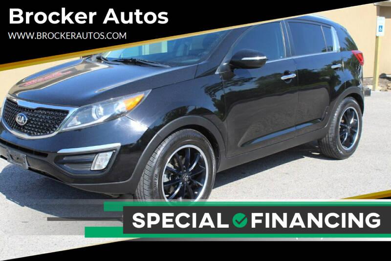 2015 Kia Sportage for sale at Brocker Autos in Humble TX