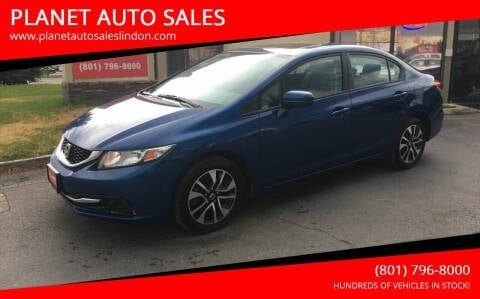 2014 Honda Civic for sale at PLANET AUTO SALES in Lindon UT