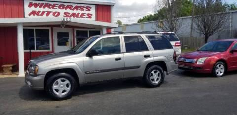 2003 Chevrolet TrailBlazer for sale at WIREGRASS AUTO SALES in Dothan AL