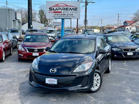 2012 Mazda MAZDA3 for sale at Supreme Auto Sales in Chesapeake VA