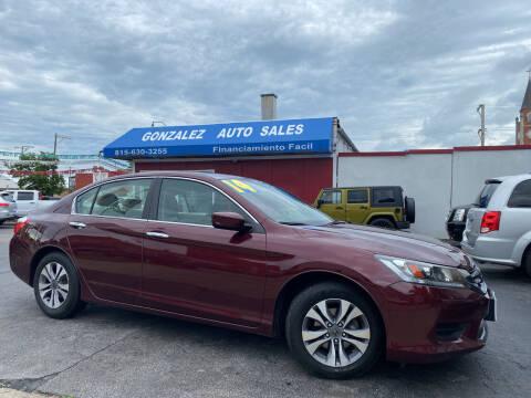 2014 Honda Accord for sale at Gonzalez Auto Sales in Joliet IL