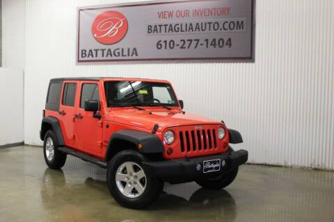 2013 Jeep Wrangler Unlimited for sale at Battaglia Auto Sales in Plymouth Meeting PA