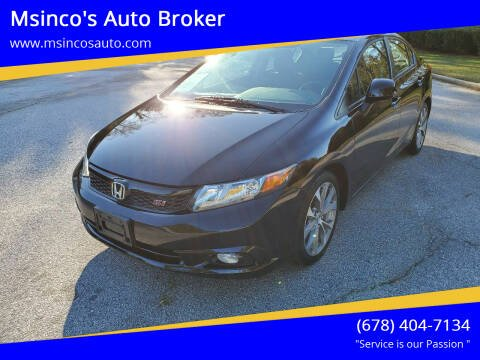 2012 Honda Civic for sale at Msinco's Auto Broker in Snellville GA