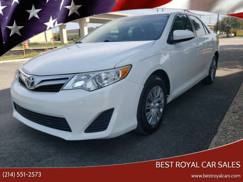 2014 Toyota Camry for sale at Best Royal Car Sales in Dallas TX