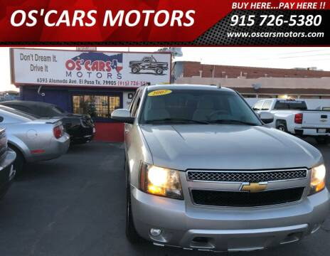 2007 Chevrolet Tahoe for sale at Os'Cars Motors in El Paso TX
