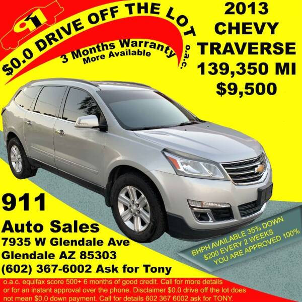 2013 Chevrolet Traverse for sale at 911 AUTO SALES LLC in Glendale AZ
