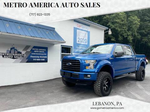 2015 Ford F-150 for sale at METRO AMERICA AUTO SALES of Lebanon in Lebanon PA