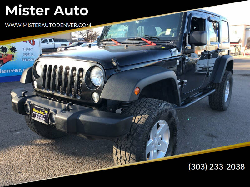 2014 Jeep Wrangler Unlimited for sale at Mister Auto in Lakewood CO