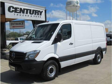 2016 Mercedes-Benz 2500 Sprinter Low Roof 144 WB for sale at CENTURY TRUCKS & VANS in Grand Prairie TX