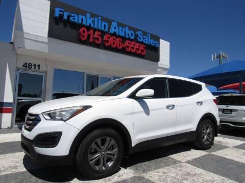 2013 Hyundai Santa Fe Sport for sale at Franklin Auto Sales in El Paso TX