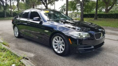 2014 BMW 5 Series for sale at DELRAY AUTO MALL in Delray Beach FL