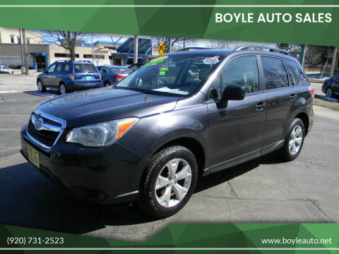 2015 Subaru Forester for sale at Boyle Auto Sales in Appleton WI