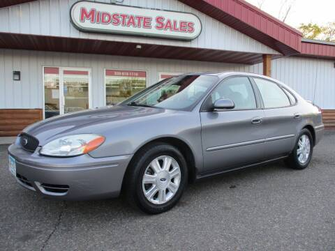 2007 Ford Taurus for sale at Midstate Sales in Foley MN