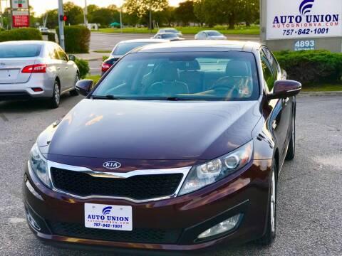 2011 Kia Optima for sale at Auto Union LLC in Virginia Beach VA