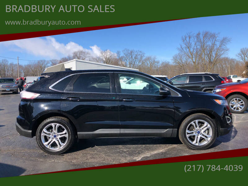 2016 Ford Edge for sale at BRADBURY AUTO SALES in Gibson City IL