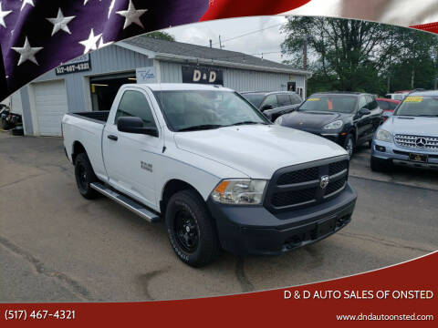 2016 RAM Ram Pickup 1500 for sale at D & D Auto Sales Of Onsted in Onsted MI