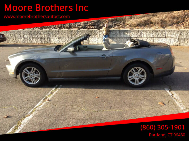 2010 Ford Mustang for sale at Moore Brothers Inc in Portland CT