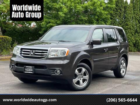 2012 Honda Pilot for sale at Worldwide Auto Group in Auburn WA