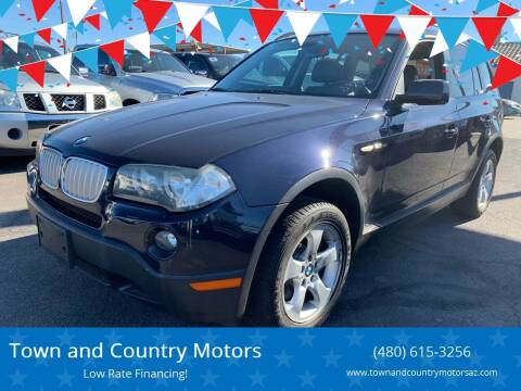 2008 BMW X3 for sale at Town and Country Motors in Mesa AZ