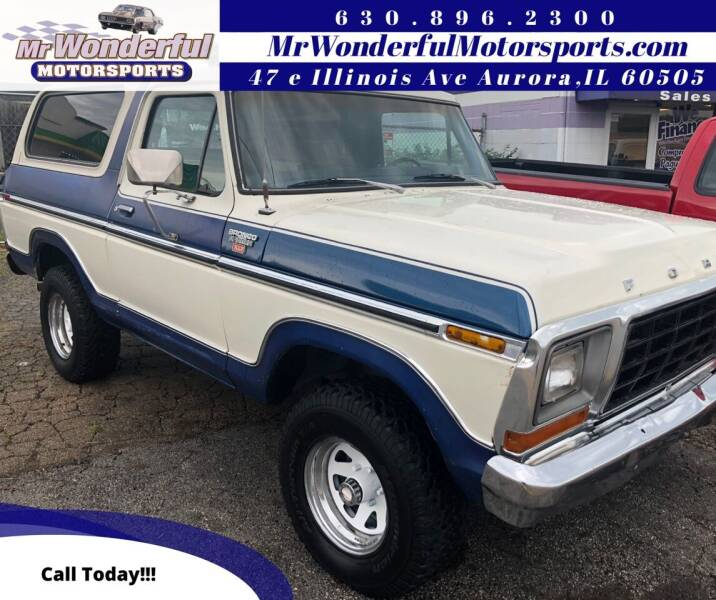 1979 Ford Bronco for sale at Mr Wonderful Motorsports in Aurora IL