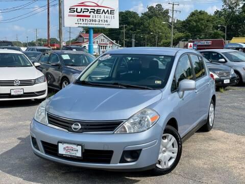 2011 Nissan Versa for sale at Supreme Auto Sales in Chesapeake VA