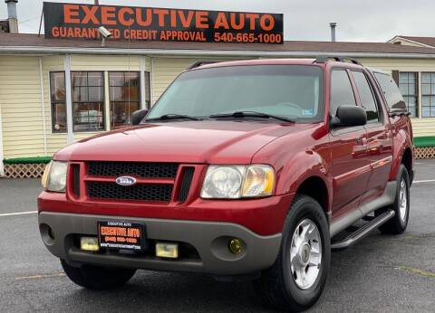 2003 Ford Explorer Sport Trac for sale at Executive Auto in Winchester VA