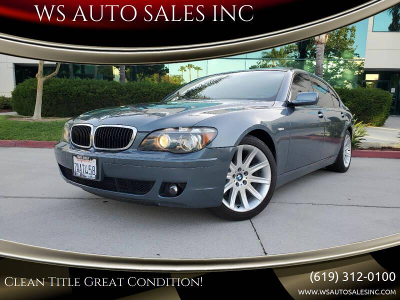 2006 BMW 7 Series for sale at WS AUTO SALES INC in El Cajon CA