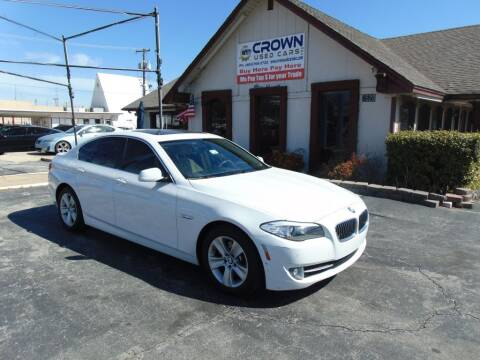 2012 BMW 5 Series for sale at Crown Used Cars in Oklahoma City OK