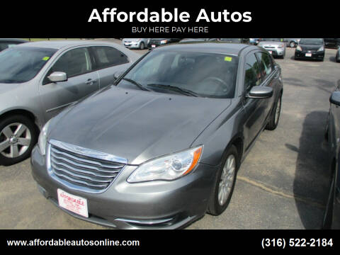 2012 Chrysler 200 for sale at Affordable Autos in Wichita KS