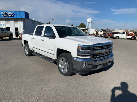 2017 Chevrolet Silverado 1500 for sale at BULL MOTOR COMPANY in Wynne AR